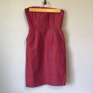 Like new J Crew strapless dress with pockets